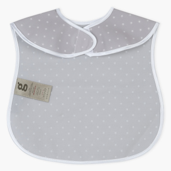 Giggles Printed Bib with Hook and Loop Closure
