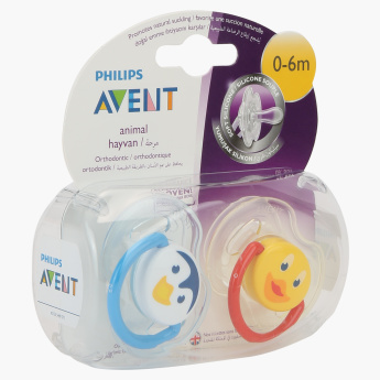 Avent Animal Shaped Orthodontic Soother - Set of 2