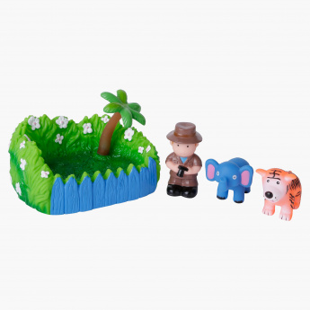 Juniors Grass Soap Dish with Boy and Wild Animals