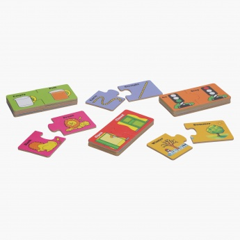 Juniors Opposite Wood Matching Puzzle Set
