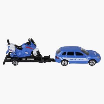 ActionCity Police Car with Trailer and Bike