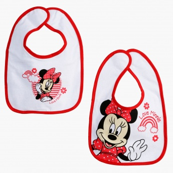 Minnie Mouse Print Bib - Set of 2