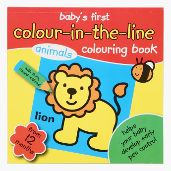 Colour In The Line Animals Colouring Book