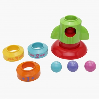 Juniors Stack and Push Rocket Toy