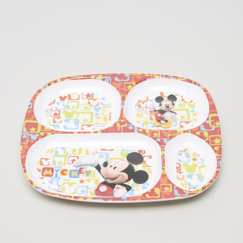 Mickey Mouse Printed 4-Section Plate