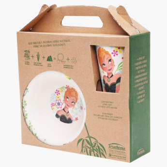 Dinner Set 3Pk Bamboo-Frozen Flowers