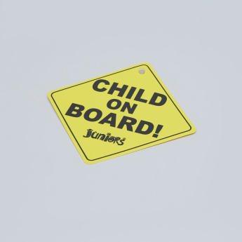 Juniors Baby On Board Sign