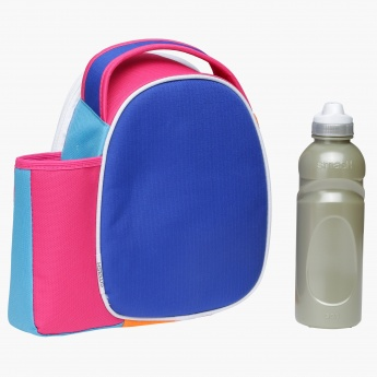Smash Textured Lunch Bag and Water Bottle Set