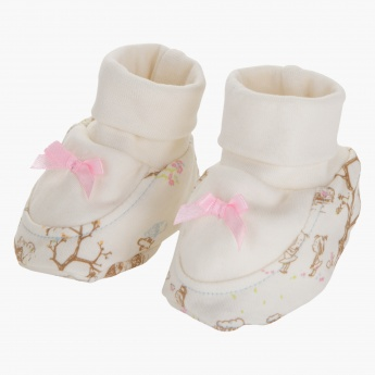 Juniors Printed Booties