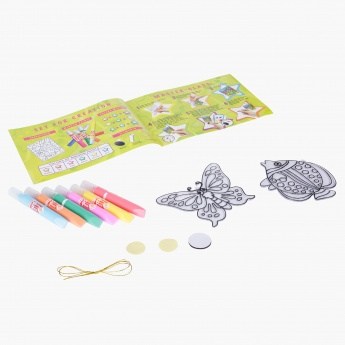 Orange Elephant Sun Catcher Painting Set
