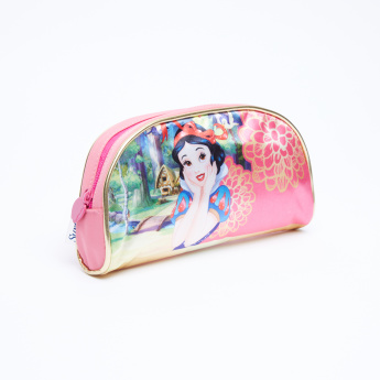 Snow White Printed Pencil Case with Zip Closure