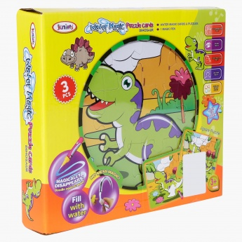 Juniors Dinosaur Water Doodle Puzzle Card – Set of 3
