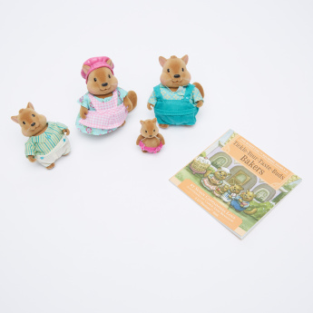 Lil Woodzeez Squirrel Family Storybook with Plush Toys