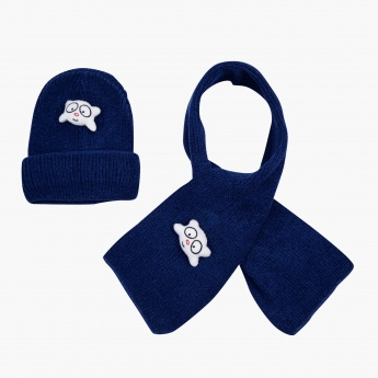 Juniors Ribbed Cap and Scarf