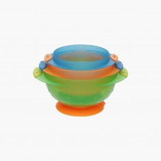 Munchkin Stay-Put Suction Bowl - Set of 3