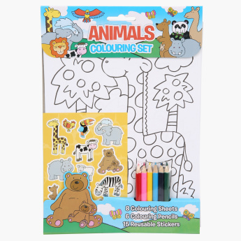 Animals Colouring Set