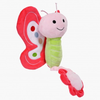Juniors Musical Pull String Butterfly Plush Toy