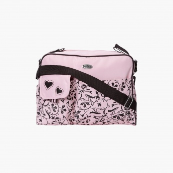 Juniors Printed Diaper Bag with Zip Closure