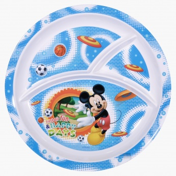 Mickey Mouse Print Section Plate