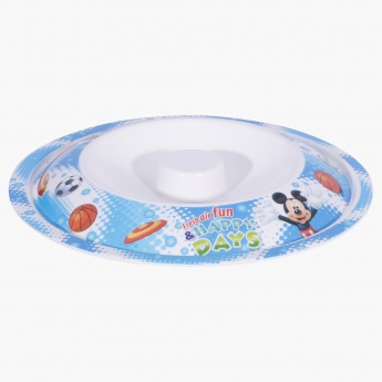 Mickey Mouse Print Bowl with Lid