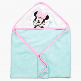 Minnie Mouse Embroidered Towel with Hood