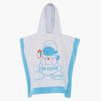 The Smurfs Printed Poncho with Hood