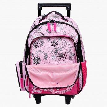Charmmy Kitty Print Trolley Backpack