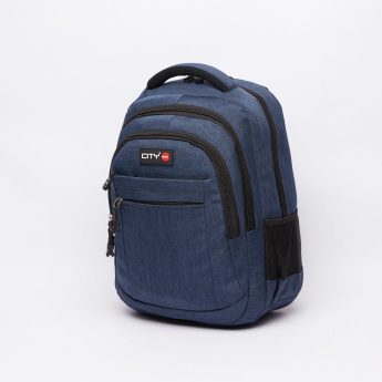 LYC SAC Textured Backpack with Zip Closure and Pencil Case