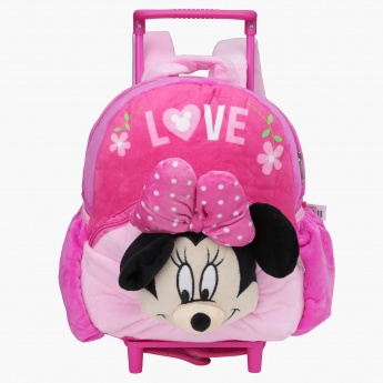 Minnie Mouse Printed Trolley Backpack with Zip Closure