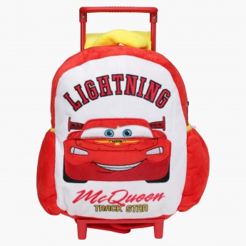 Cars Printed Trolley Bag with Two Wheels