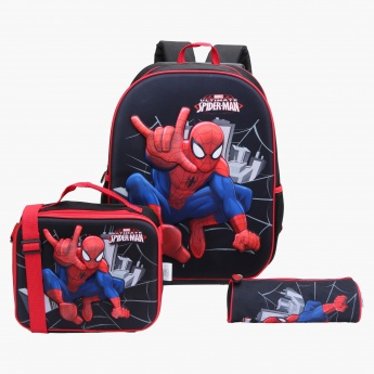 Spider-Man Printed 3-Piece Bag Set