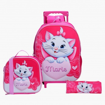 Marie Printed 3-Piece Backpack Set