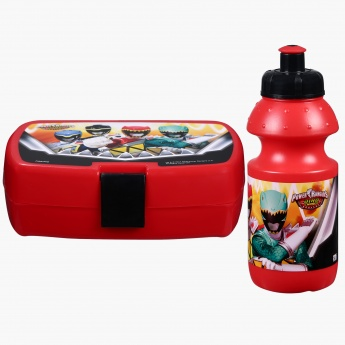 Power Rangers Printed Lunch Box and Water Bottle Set in Bag