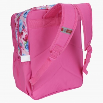Marie Printed Backpack with Zip Closure
