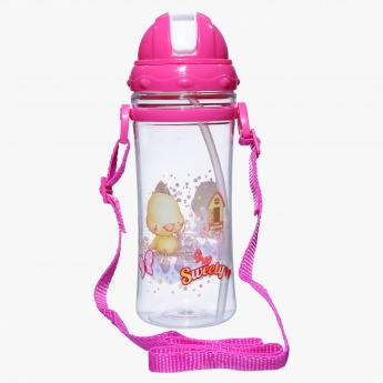Juniors Printed Water Bottle with Strap - 350 ml