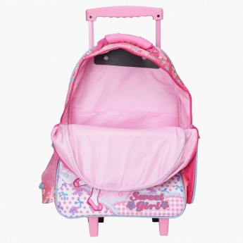 Juniors Printed Trolley Bag with Two Wheels