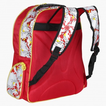 Juniors Printed Backpack with Zip Closure