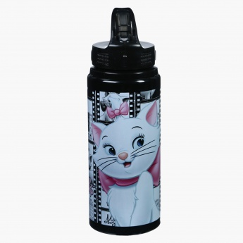 Marie the Cat Printed Water Bottle