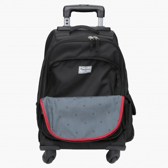Pepe Jeans Printed Trolley Backpack