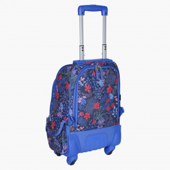 Pepe Jeans Printed Trolley Bag with Four Wheels