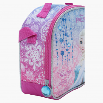 Frozen Printed Lunch Bag with Zip Closure