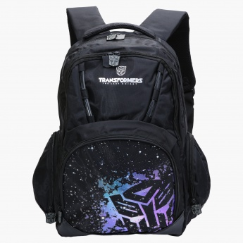 Hasbro Transformers Printed Backpack with Zip Closure