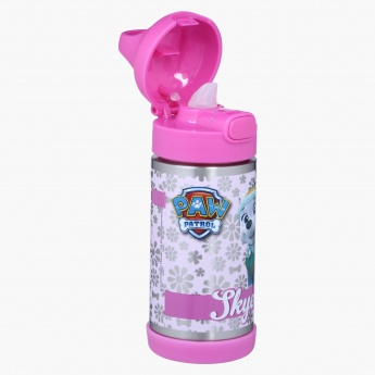 Paw Patrol Print Water Bottle with Push Button
