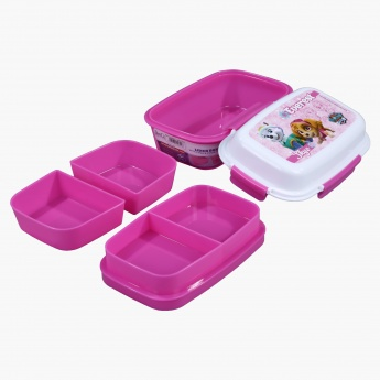 Everest Paw Patrol Printed Lunch Box with 4-Clip Closures and 3 Trays