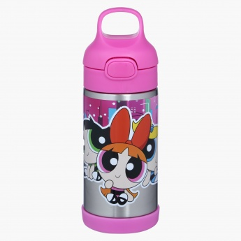 b14eecf45ec PowerPuff Girls Print Water Bottle with Push Button