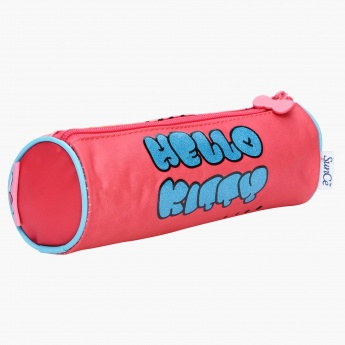 Hello Kitty Printed Round Pencil Case
