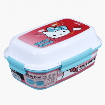 Hello Kitty Printed Lunch Box with 4-Clip Closures and 3 Trays