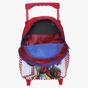 Blaze Printed Trolley Backpack