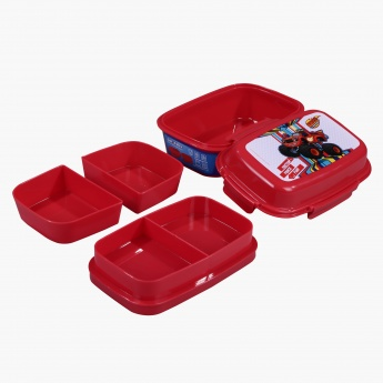 Blaze Printed Lunch Box with 4 Compartments