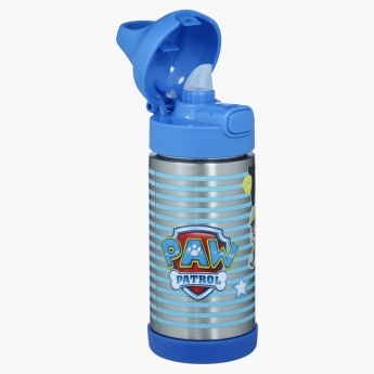 Paw Patrol Printed Double Wall Water Bottle with Push Opening - 350 ml